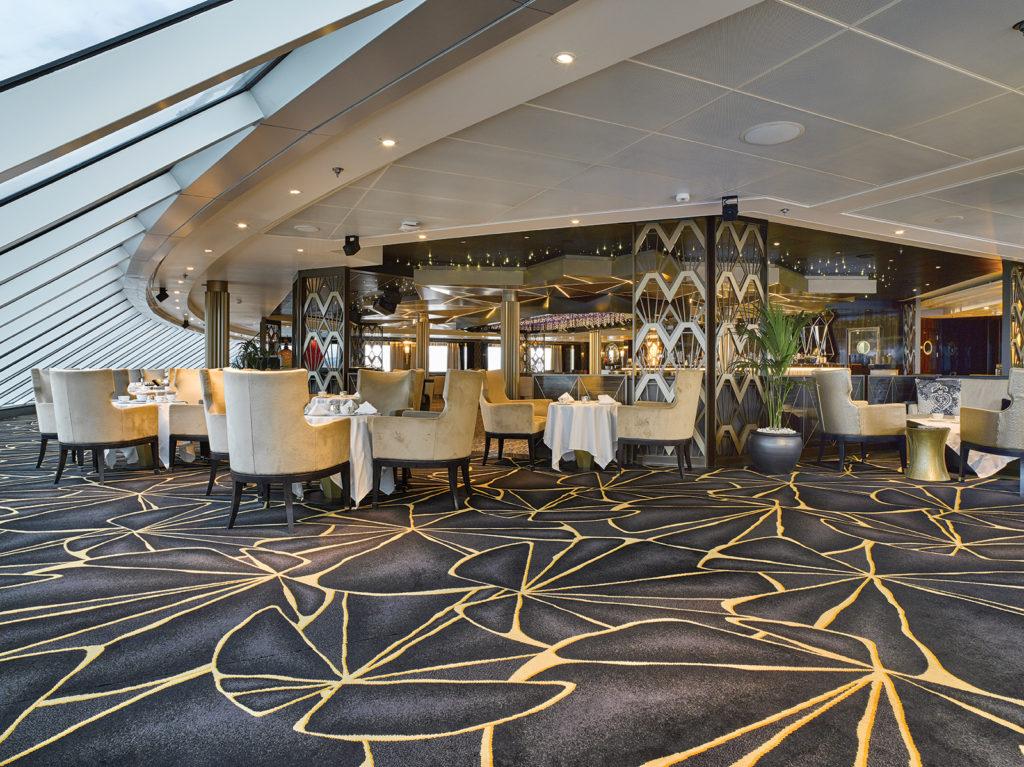 Ulster Carpets in Seven Seas Explorer Observation Lounge