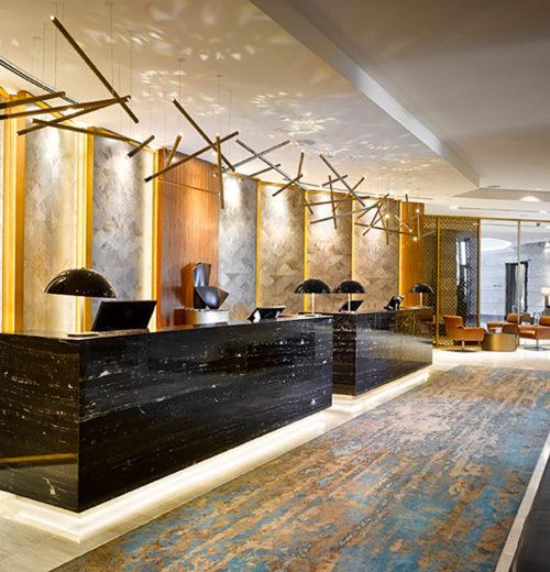 Ulster Carpet in Sheraton Mall of the Emirate Dubai reception
