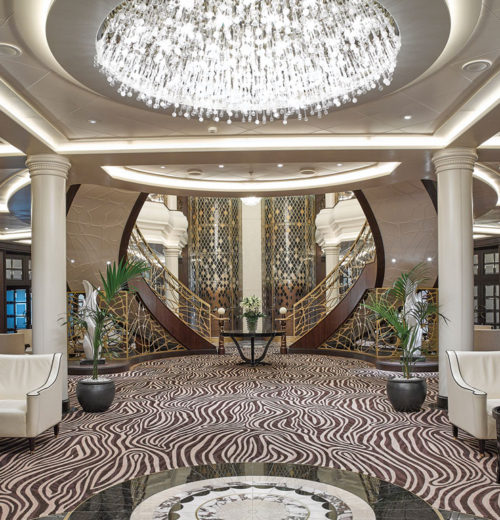 Regent Seven Seas Explorer atrium