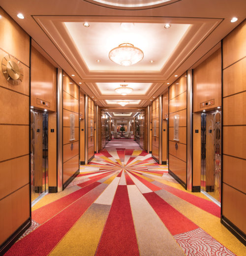Queen Mary Lift lobby - Deck 2