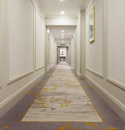 Carpet in corridor in Grosvenor House, A JW Marriott Hotel