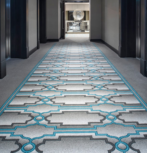 Corridor carpet, Grand Central Hotel Belfast - Parrott Photography