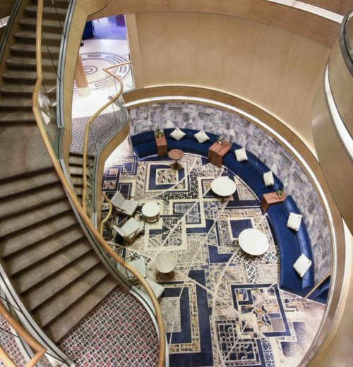 Ulster carpet in the atrium of the cruise ship Arcadia