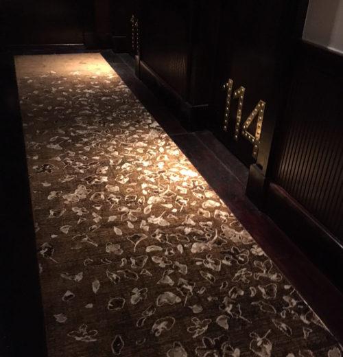 Corridor carpet in Hotel Barrière Le Fouquet's