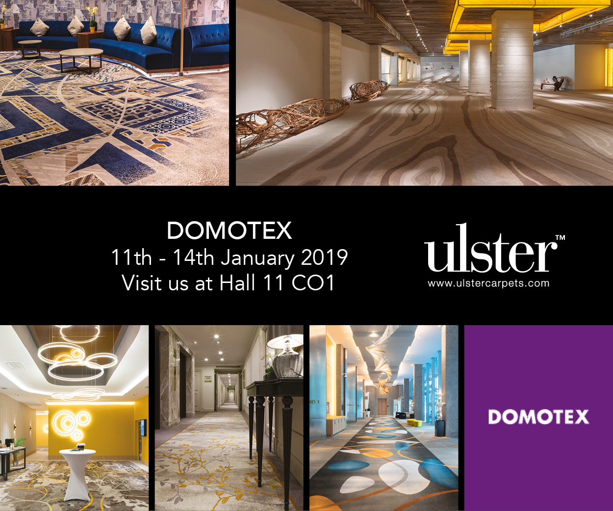 Visit Ulster Carpets and danfloor at Domotex 2019