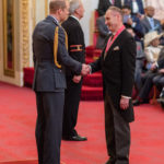 Nick Coburn receives his CBE at Buckingham Palace