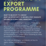 APPLY NOW – 18 Month Graduate to Export Programme