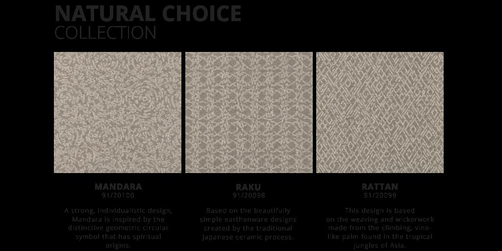 Natural choice collection. Mandara. Raku. Rattan.