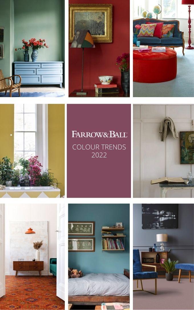 Farrow and Ball Colour Trends 2022